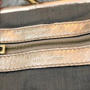 Marc Jacobs Bags - Marc Jacobs rose gold metallic mini stam bag